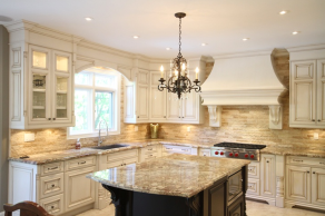 Design of french country kitchen